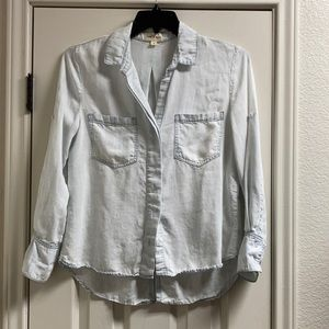 Cloth and stone chambray button down top